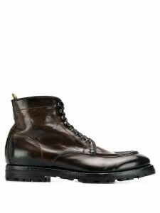 Officine Creative army boots - Brown