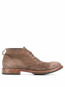 Moma Low lace-up desert boots - Brown