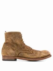 Officine Creative ankle lace-up boots - Brown