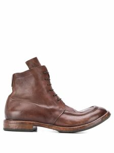Moma ankle lace-up boots - Brown