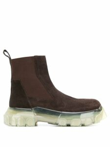 Rick Owens chunky Chelsea boots - Brown