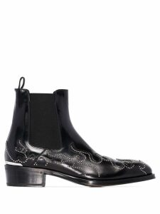 Alexander McQueen Flame ankle boots - Black