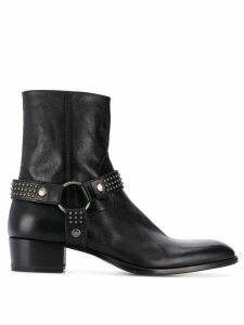 Saint Laurent Wyatt leather 40mm ankle boots - Black