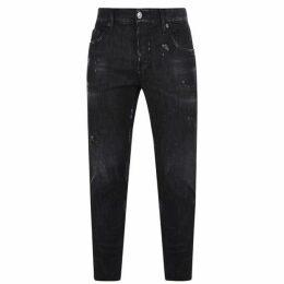 DSquared2 Black Washed Skater Jeans