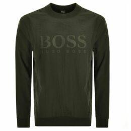 BOSS Casual WNylon Sweatshirt Green
