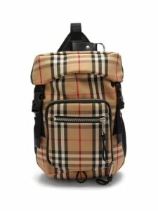 Burberry - Checked Cotton-blend Belt Bag - Mens - Beige Multi