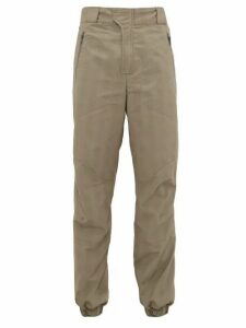 Boramy Viguier - Prince Of Wales Check Technical Trousers - Mens - Grey