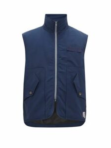 Boramy Viguier - Grosgrain Trim Cotton Twill Gilet - Mens - Navy