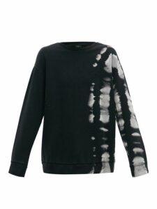 Marcelo Burlon - Tie Dye Cotton Jersey Sweatshirt - Mens - Black White