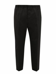 Jil Sander - Elasticated Waist Twill Trousers - Mens - Black