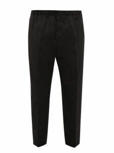 Jil Sander - Elasticated Waist Twill Trousers - Mens - Black