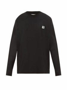 Wooyoungmi - Logo Print Cotton Jersey Sweatshirt - Mens - Black