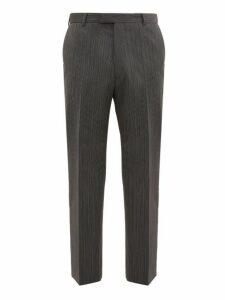 Prada - Pinstriped Straight Leg Trousers - Mens - Grey
