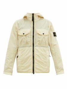 Stone Island - Hooded Technical Nylon Jacket - Mens - Cream