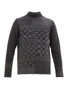 Inis Meáin - Merino Wool And Cashmere Blend Multi Knit Sweater - Mens - Grey