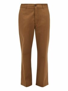 Lemaire - Straight Leg Cotton Chino Trousers - Mens - Brown