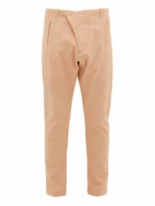 Arjé - The Teo Cotton Blend Seersucker Trousers - Mens - Orange