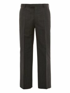 Prada - Pinstriped Straight Leg Trousers - Mens - Grey