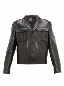 Prada - Cropped Patent Leather Jacket - Mens - Black