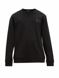 Y-3 - Logo Print Cotton Sweatshirt - Mens - Black