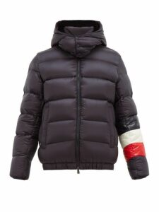 Moncler - Willm Hooded Quilted Down Jacket - Mens - Navy