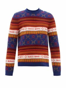 Gucci - Gg Jacquard Wool Sweater - Mens - Multi