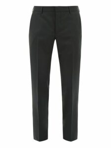 Prada - Slim Leg Wool Blend Trousers - Mens - Green