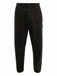 Stone Island Shadow Project - Cotton Blend Gabardine Cargo Trousers - Mens - Black