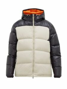 Moncler - Latour Hooded Quilted Down Jacket - Mens - Beige Navy