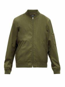 A.p.c. - Gregoire Technical Blend Gabardine Bomber Jacket - Mens - Khaki