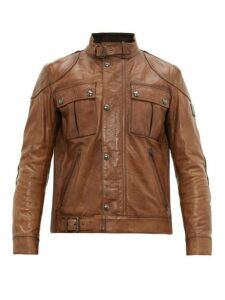 Belstaff - Gangster Leather Jacket - Mens - Tan