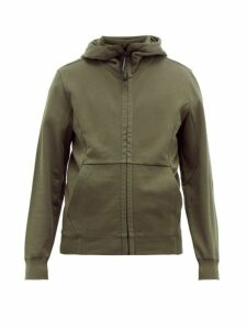 C.p. Company - Goggle Cotton Hooded Sweatshirt - Mens - Khaki