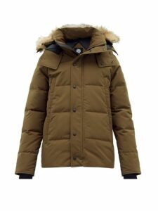 Canada Goose - Wyndham Quilted Down Hooded Parka - Mens - Dark Green