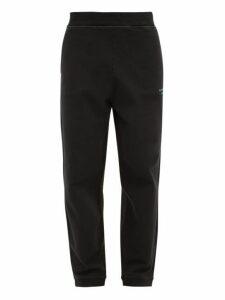Acne Studios - Franco Logo Embroidered Cotton Track Pants - Mens - Black
