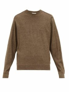 Lemaire - Exposed Seam Wool Blend Sweater - Mens - Brown