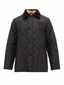 Burberry - Cotswold Corduroy Collar Quilted Jacket - Mens - Black