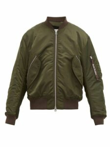 Acne Studios - Makio Zip Through Quilted Bomber Jacket - Mens - Dark Green