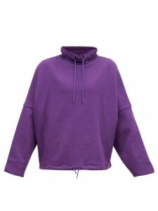 Martine Rose - Funnel Neck Cotton Sweatshirt - Mens - Purple