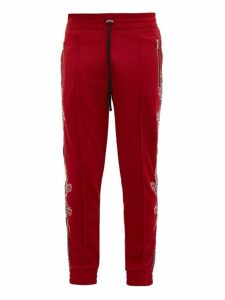 Amiri - Souvenir Dragon Embroidered Track Pants - Mens - Red