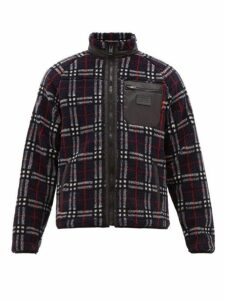 Burberry - Westly Checked Technical Fleece Jacket - Mens - Navy