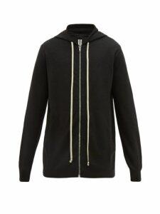 Rick Owens - Zip Through Cashmere Hooded Sweatshirt - Mens - Black