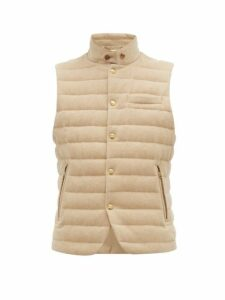 Ralph Lauren Purple Label - Whitewell Quilted Wool Gilet - Mens - Cream