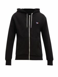 Maison Kitsuné - Fox Embroidered Cotton Jersey Hooded Sweatshirt - Mens - Black