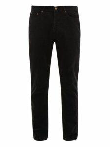 Saint Laurent - Straight Leg Cotton Corduroy Trousers - Mens - Black
