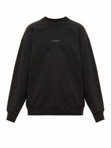 Acne Studios - Femke Logo Print Cotton Sweatshirt - Mens - Black