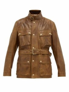 Ralph Lauren Purple Label - Callum Leather Field Jacket - Mens - Brown