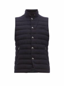 Ralph Lauren Purple Label - Whitewell Quilted Wool Gilet - Mens - Navy