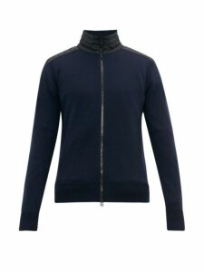 Belstaff - Kelby Merino Wool Zip Through Jacket - Mens - Navy
