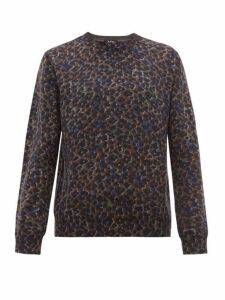 A.p.c. - Fauve Leopard Print Cotton Blend Sweater - Mens - Grey