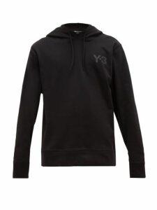Y-3 - Hooded Logo Cotton Jersey Sweatshirt - Mens - Black